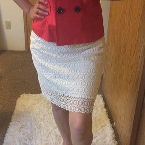 Ann Taylor Loft Lace Skirt